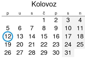 Nedarni Dani i Praznici u BiH AUGUST 2019