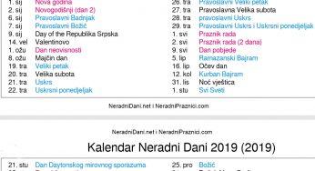 Crkveni kalendar 2019 uskrs